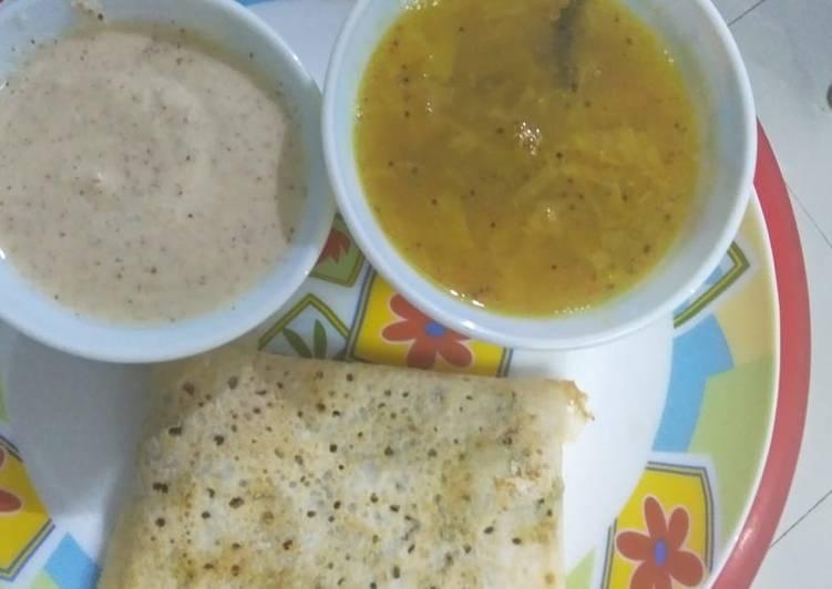 5 Minute Recipe of Royal Dosa sambhar and chutney