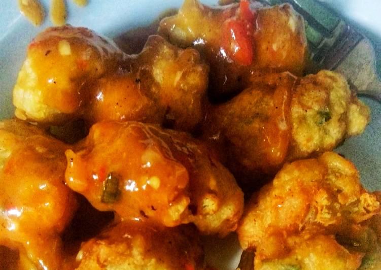 Batagor Crispy Tahu Udang Saus Merah Pedas Manis