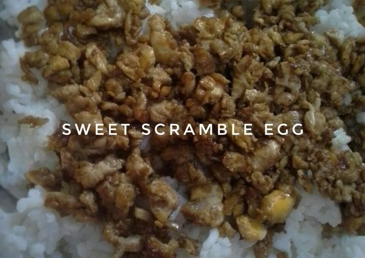 Sweet Scramble Egg (Orak-arik Telur Kecap)