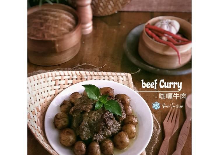 Resep 224. Rendang Sapi Hitam| 咖喱牛肉 untuk pemula