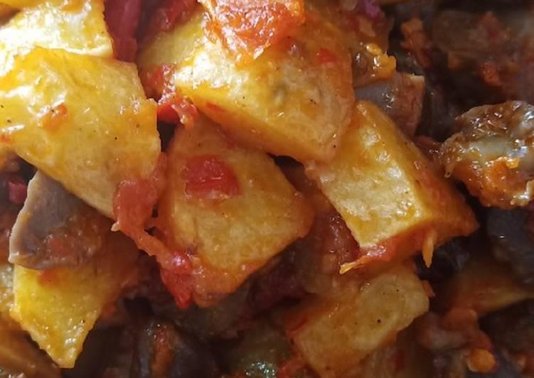 Balado kentang ampela