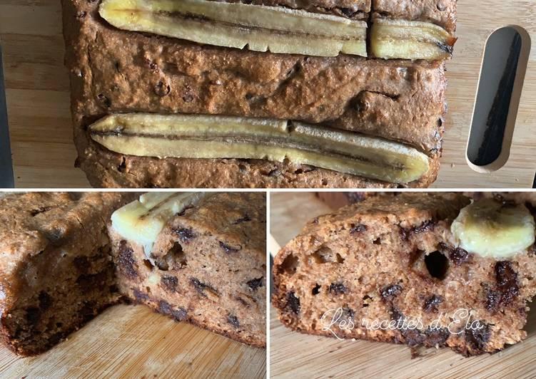 Banana bread aux pépites de chocolat au cake Factory ou four