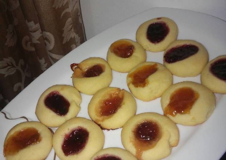 Knowledge to Compose Delish Jam Thumbprint cookies