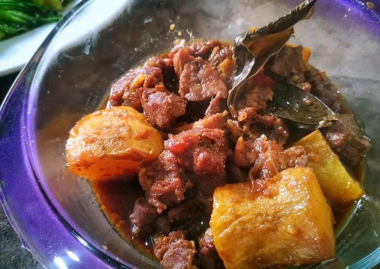 Resep Semur daging kentang Anti Gagal