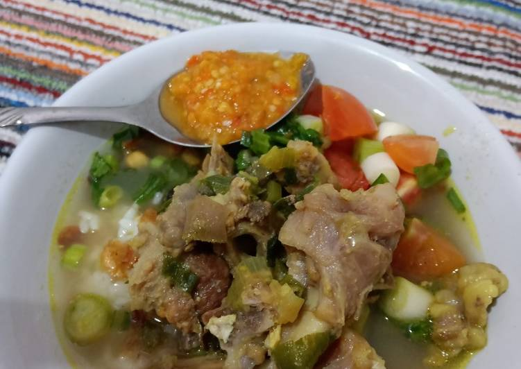 SOP kepala kambing + tulang simple