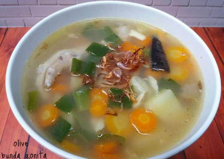 Sup ayam ala pak min (klaten)