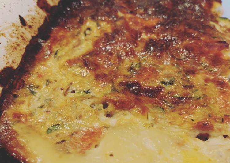 Fridge Cleaning: Courgette Egg Baked