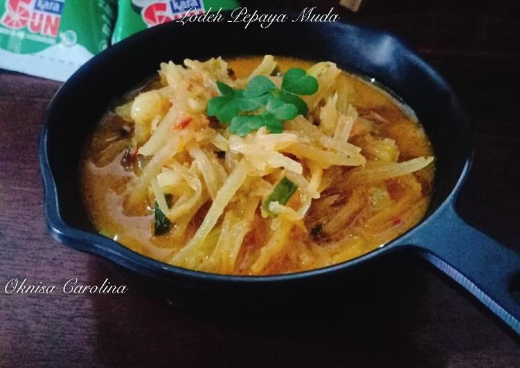 Recipe: Tasty Lodeh Pepaya Muda