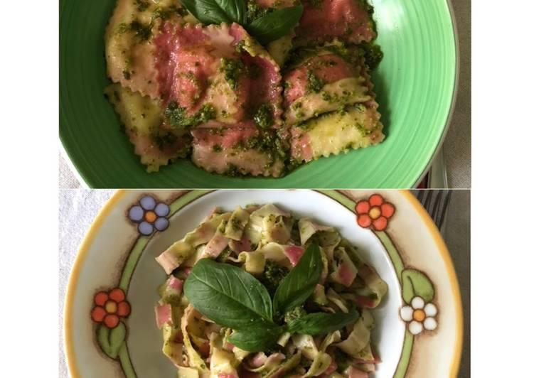 Pasta colorata fatta a mano: Ravioli e Tagliatelle 🍝