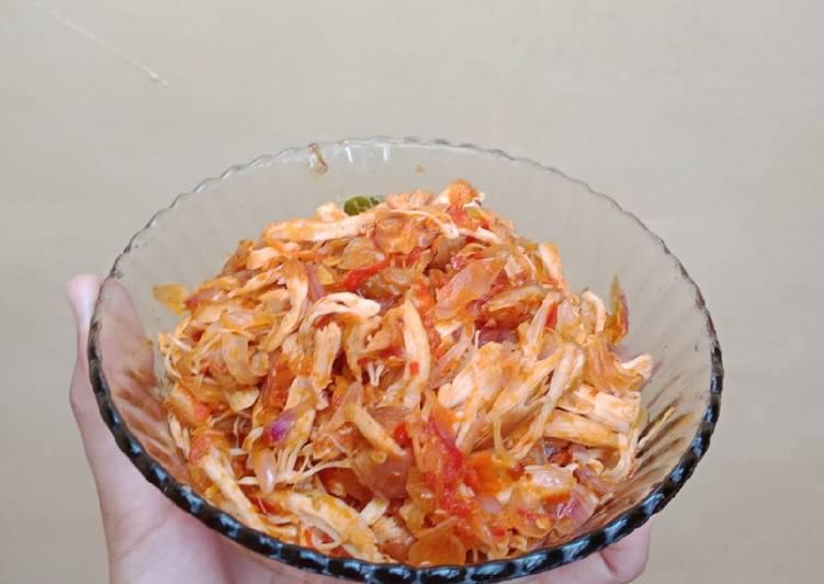 Ayam Suwir/ Ayam Sisit Pedas ala Bali