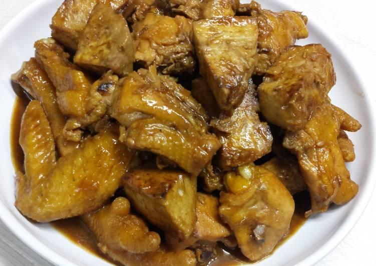 Ayam & Talas bumbu kecap