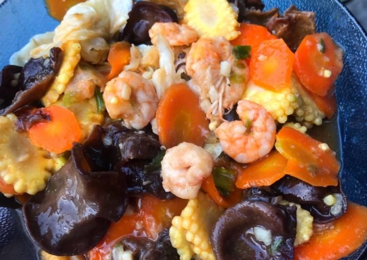 Capcay kuah Seafood Sederhana dan Simple