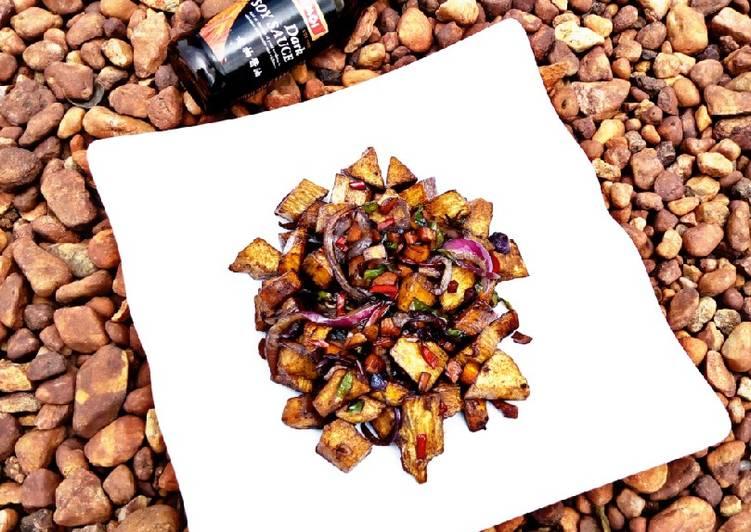 Recipe: Tasty Yam and plantain stir fry