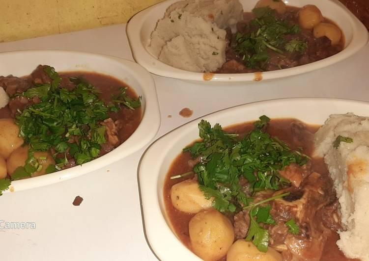 Ugali plus Stewed Fried Beef