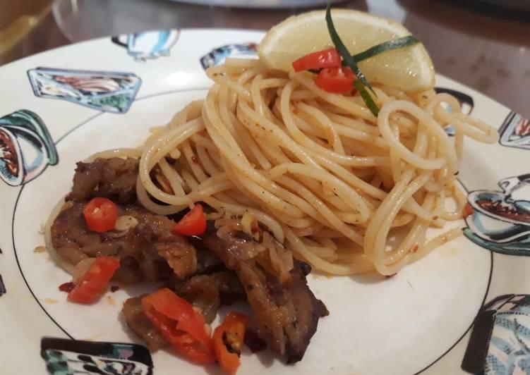 Spaghetti Se'i Bumbu Sambal Matah