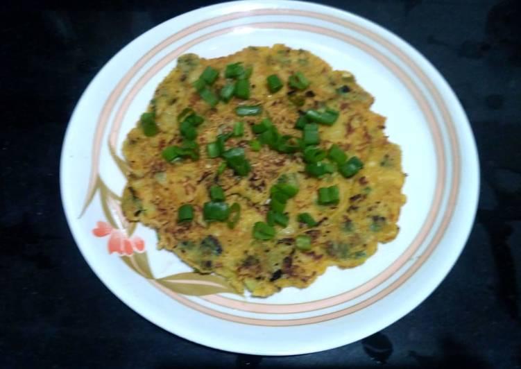 Recipe of Homemade Spring onion cheela