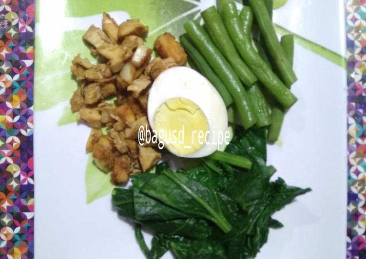 Cara membuat Ayam Orek rendah kalori (Menu diet/ oil free)