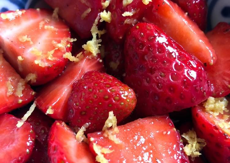 Balsamic strawberries 🍓