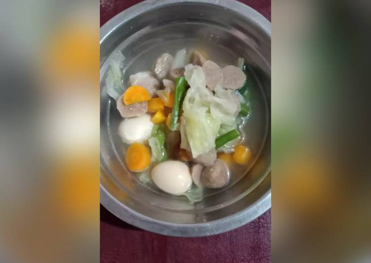 02.Sayur sop baso Dan telur puyuh