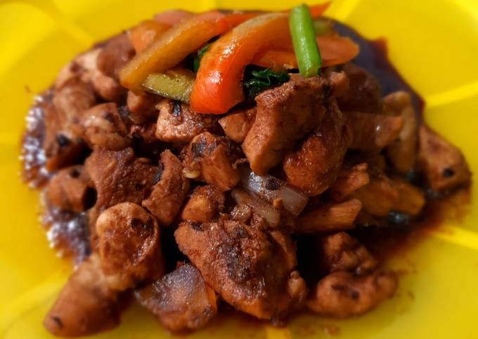 Ayam saus jjajang – menu diet