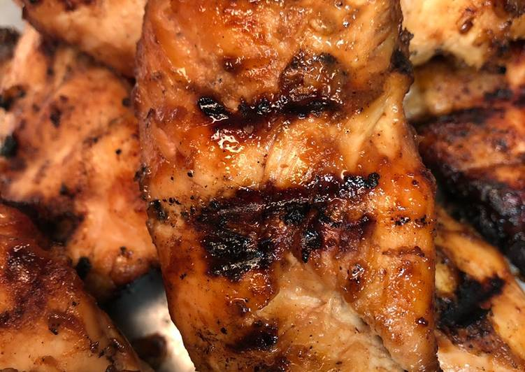 Sweet and sticky grilled tenders