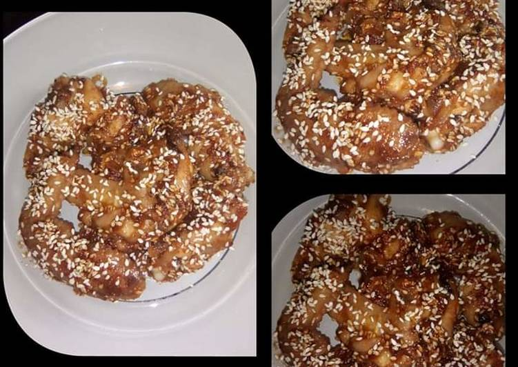 Resep Chicken Wings Sesame With Honey Sauce / sayap ayam wijen saus madu Yang Mudah Bikin Ngiler