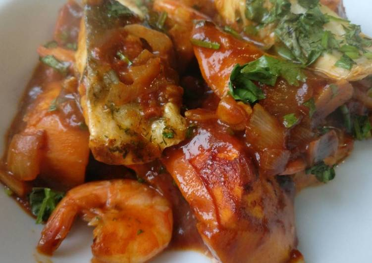 Sweet potato & fish tagine