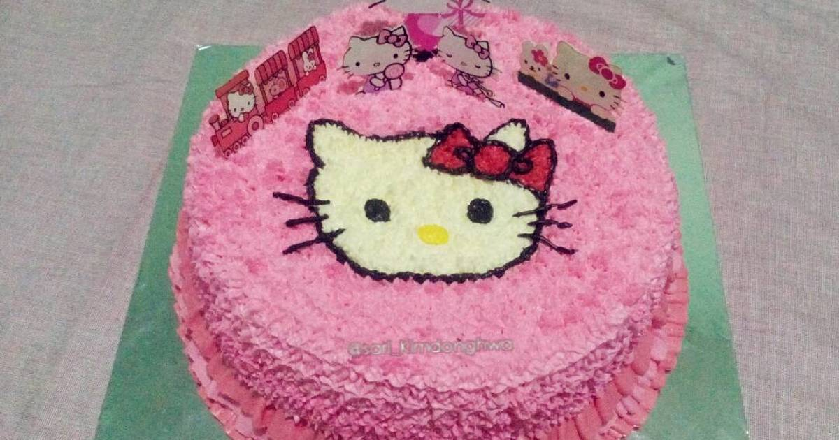 Resep Cake Hias Hello Kitty Oleh Sari Utami Kimdonghwa Cookpad