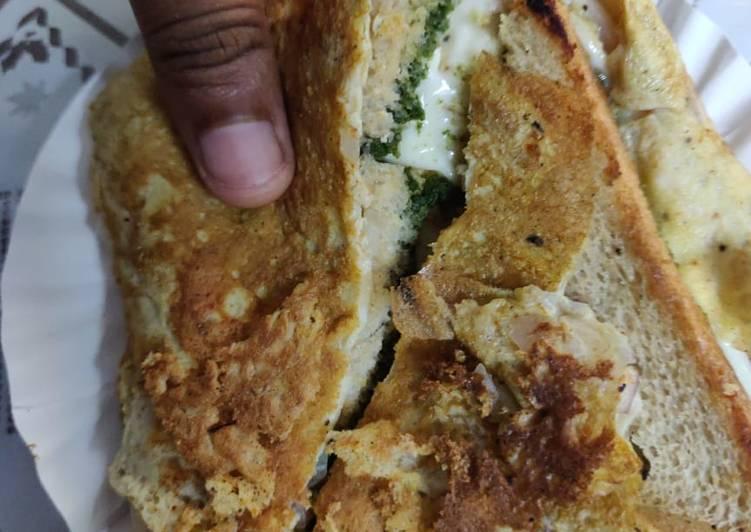 Street style Bread Omlette