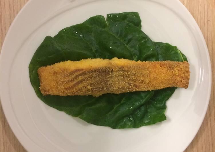 Recipe: Yummy Salmon in polenta crust