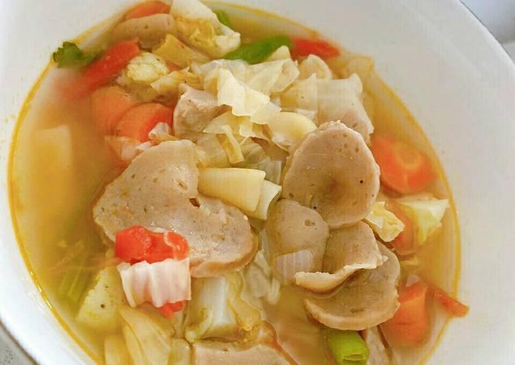 Sop bakso ceria enak dan sederhana