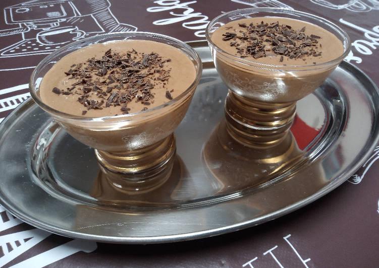 Mousse chocolatée au café