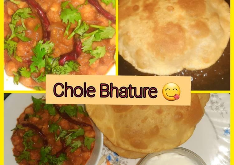 Recipe: Yummy Chole Bhature 😋