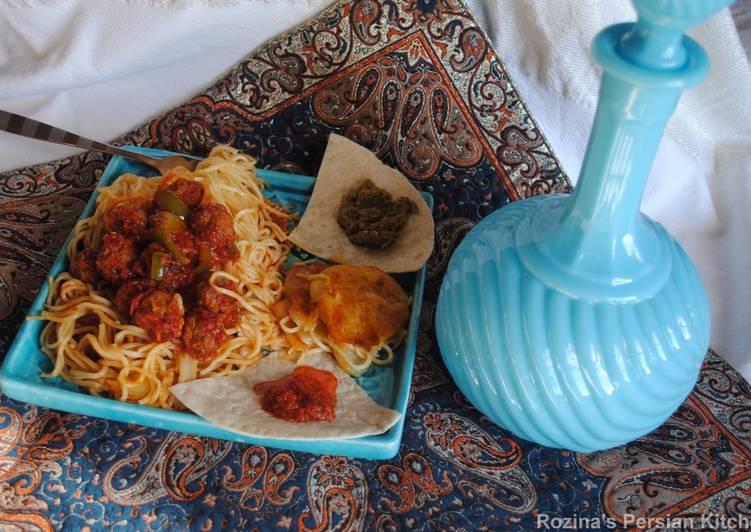 Recipe of Perfect Persian style meatballs spaghetti