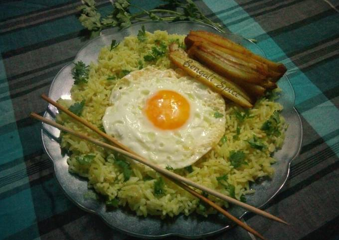 Egg Fried Rice with Baked Potato