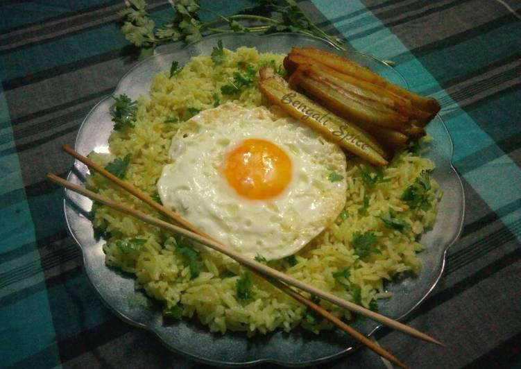 How To Make  Egg Fried Rice with Baked Potato