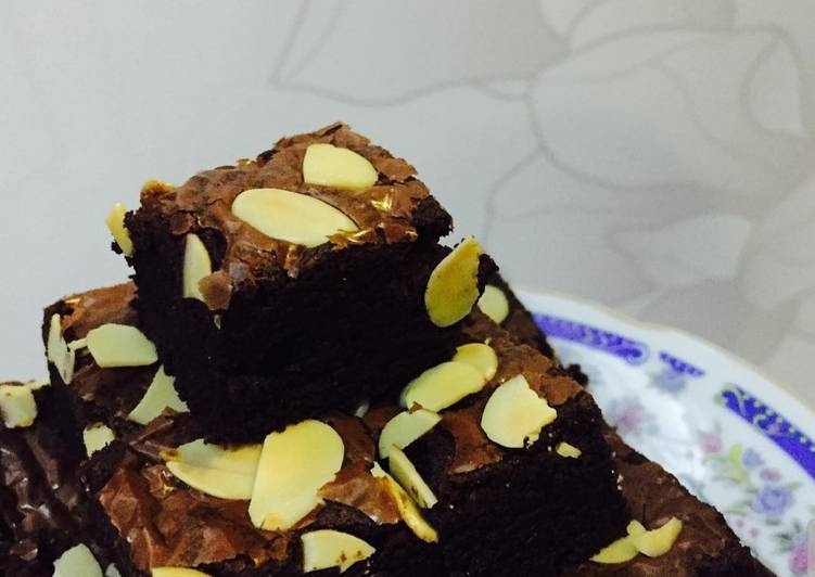 Almond Brownies Resep Chennie Zhang Super Nyoklat
