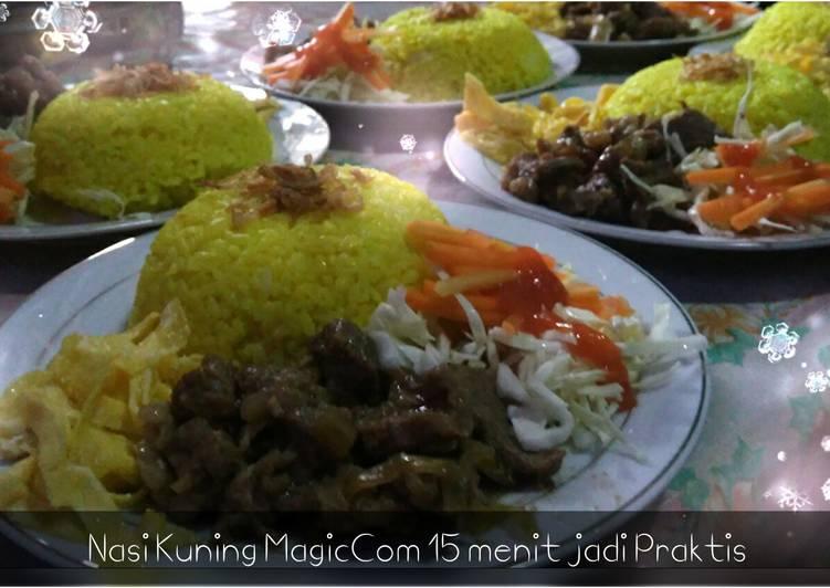 Beef Teriyaki ala Hokben & Nasi Kuning Praktis pake magic Com cocok utk bekal