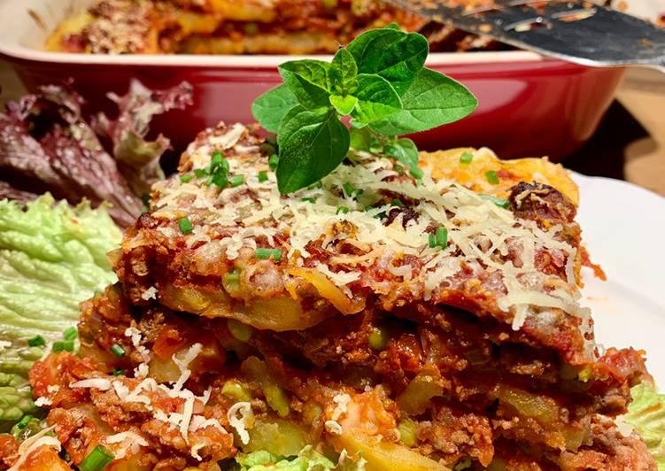 Kartoffel Lasagne mit Wildhack