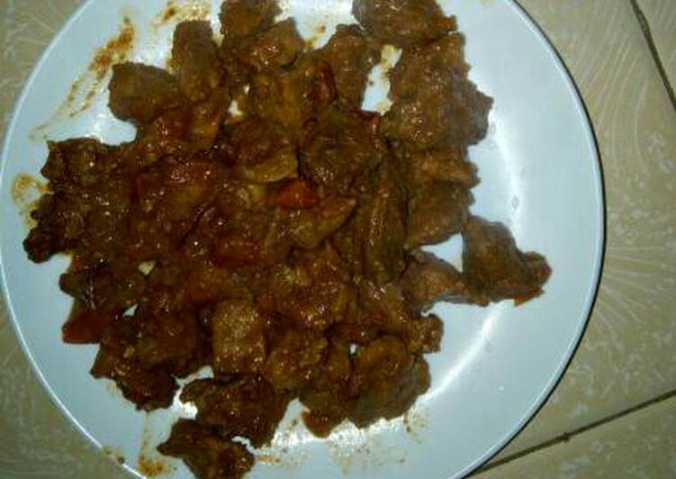 Tasty goat meat stew