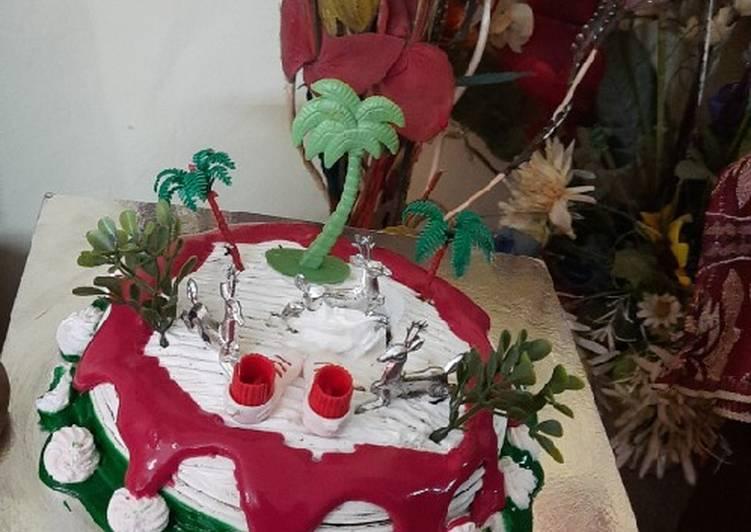 Christmas 🍫 chocolate choco chips whip cream cake