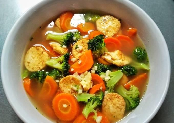 Capcay Kuah Tofu/Cah Tofu Sayuran