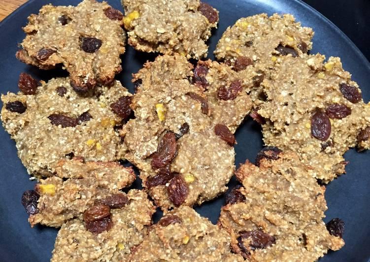 Snack pisang raisin oat cookie
