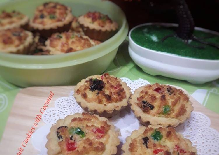 Fruity Cookies with Coconut