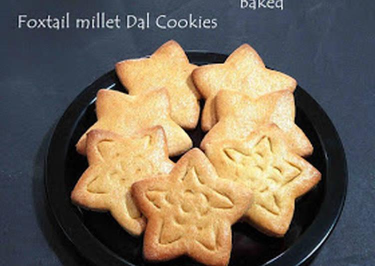 Simple Way to Make Ultimate Thinai Moong Dal Kolusa / Foxtail Millet Moong Dal Cookies
