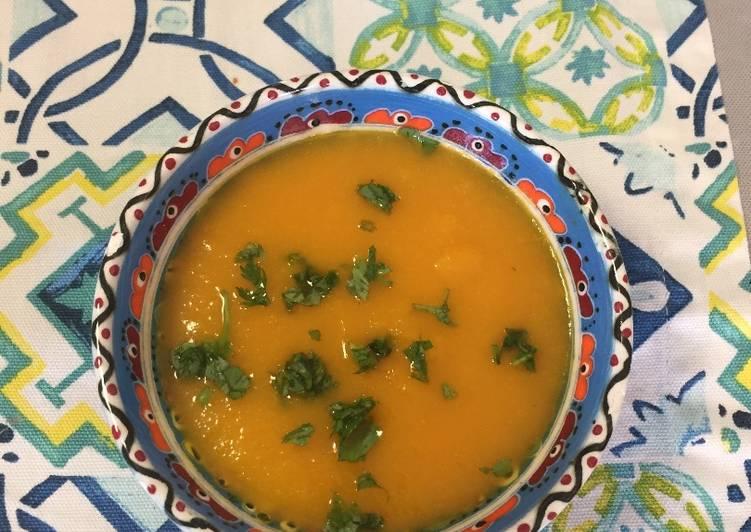 Ricetta Zuppa di carote e zenzero