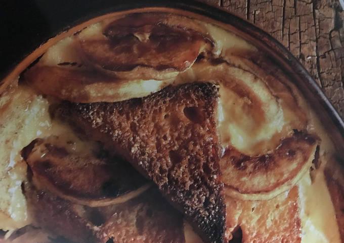 Gratinée de pain perdu aux pommes