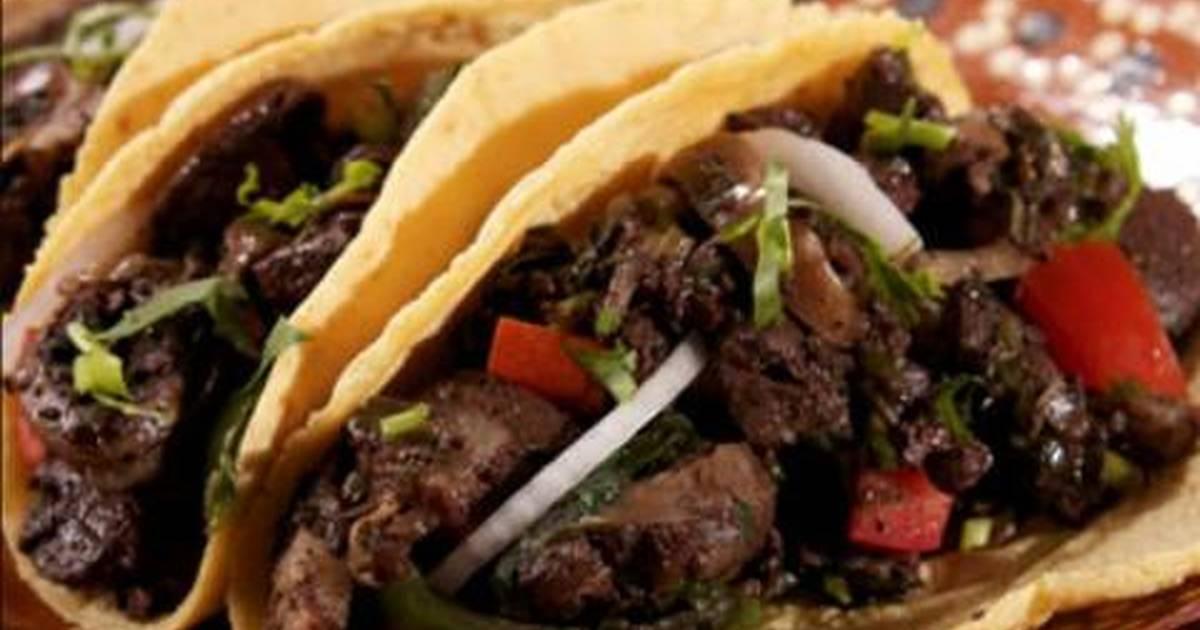 Tacos de moronga o morcilla Receta de Camarena Rosy- Cookpad