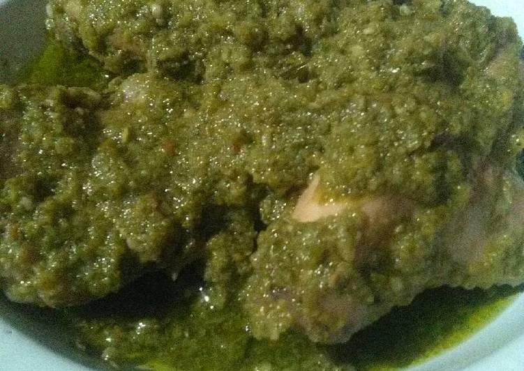 Ayam lado mudo / ayam masak hijau
