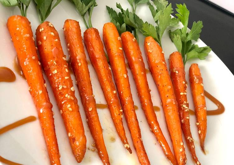 Comment Servir Mini carottes au miel et au sésame